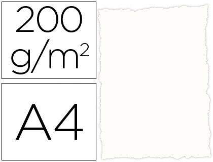 Papel pergamino Blanco Rústico A-4 25 hojas