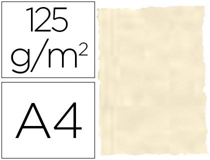 Papel pergamino piel elefante color hueso A-4 (25 hojas)
