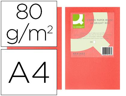 papel rojo intenso A-4 paquete de 500 hojas