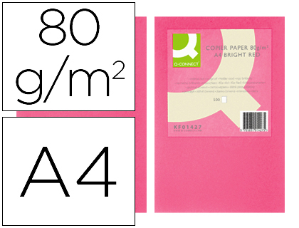 papel rosa intenso A-4 paquete de 500 hojas