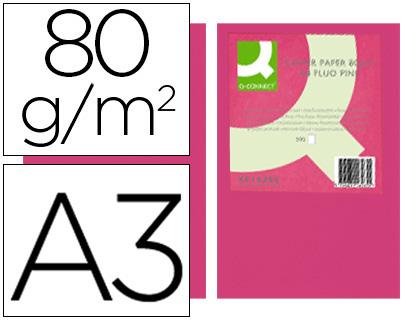 papel rosa neon A-3 paquete de 500 hojas