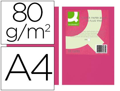 papel rosa neon A-4 paquete de 500 hojas