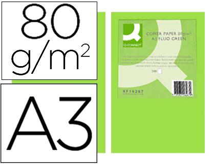 papel verde neon A-3 paquete de 500 hojas