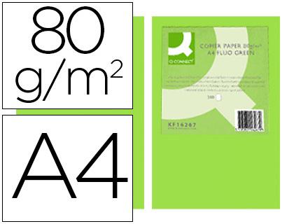 papel verde neon A-4 paquete de 500 hojas