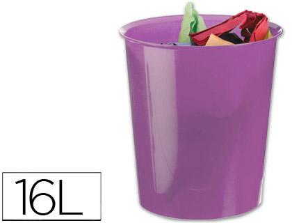 papelera de plástico