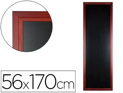 Pizarra negra para hostelería mural de madera