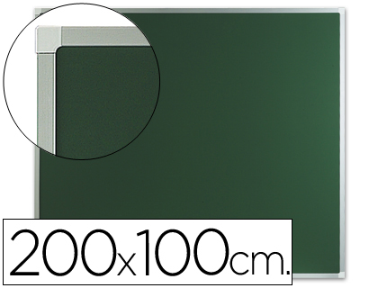 Pizarra verde mural 200x100 cm sin repisa