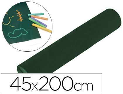 Pizarra verde en rollo adhesivo 45x200 cm para tiza color verde