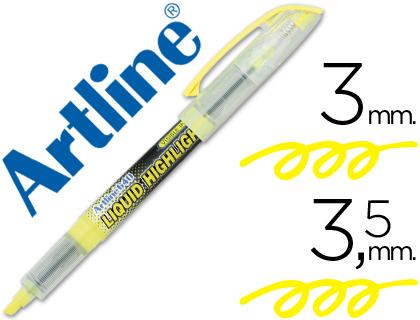 Rotulador fluorescente amarillo Artline