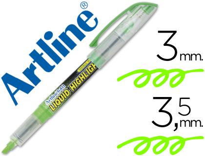 Rotulador fluorescente verde Artline