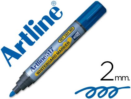 Rotulador para pizarra blanca azul punta cónica