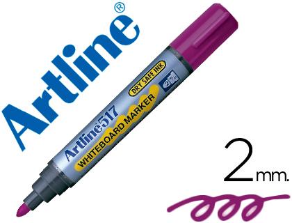 Rotulador para pizarra blanca violeta punta cónica