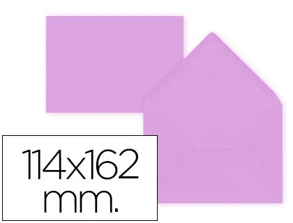 Sobre Lila de 114 x 162 mm. Solapa pico (pack de 15 unds)