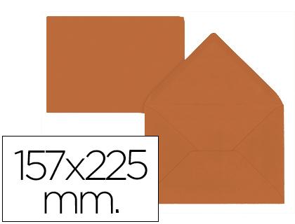 Sobre Marrón de 157 x 225 mm. Solapa pico (pack de 9 unds)