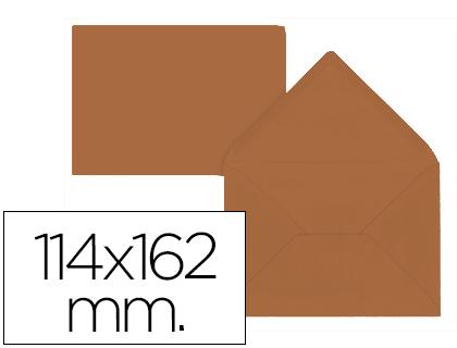 Sobre Marrón de 114 x 162 mm. Solapa pico (pack de 15 unds)