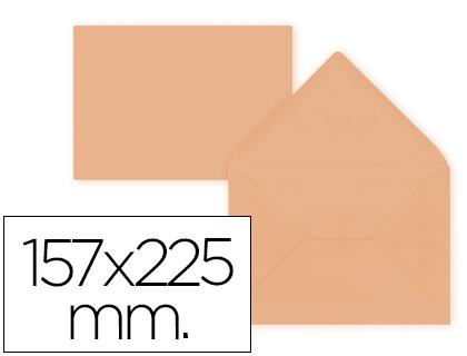 Sobre Naranja de 157 x 225 mm. Solapa pico (pack de 9 unds)