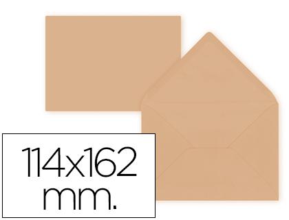 Sobre Naranja de 114 x 162 mm. Solapa pico (pack de 15 unds)
