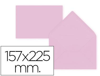 Sobre Rosa de 157 x 225 mm. Solapa pico (pack de 9 unds)