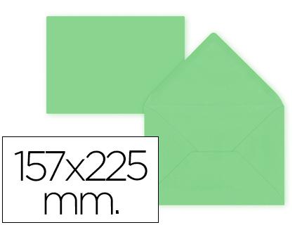 Sobre Verde de 157 x 225 mm. Solapa pico (pack de 9 unds)