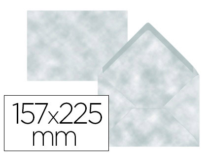 Sobre Azul Pergamino de 157 x 225 mm. Solapa pico (pack de 9 unds)