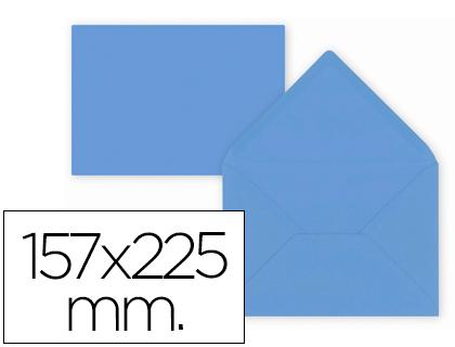 Sobre Azul de 157 x 225 mm. Solapa pico (pack de 9 unds)