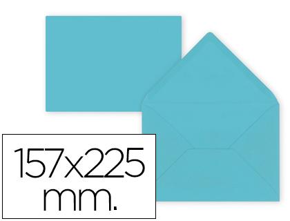 Sobre Celeste de 157 x 225 mm. Solapa pico (pack de 9 unds)