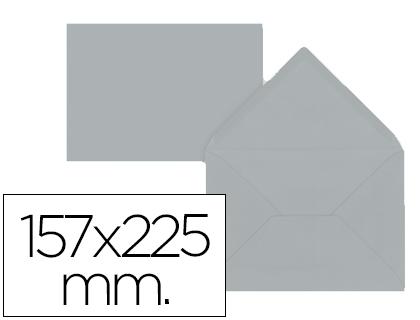 Sobre Gris de 157 x 225 mm. Solapa pico (pack de 9 unds)