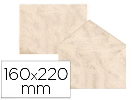 Sobre marmoleado Beige 160 x 220 mm (paqt. 25 unds)