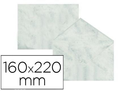 Sobre marmoleado Gris 160 x 220 mm (paqt. 25 unds)