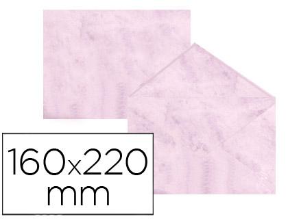 Sobre marmoleado Rosa 160 x 220 mm (paqt. 25 unds)
