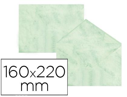 Sobre marmoleado Verde 160 x 220 mm (paqt. 25 unds)