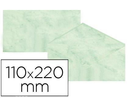 Sobre marmoleado Verde 110 x 220 mm (paqt. 25 unds)