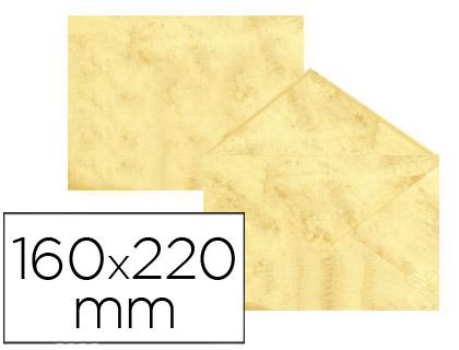 Sobre marmoleado Amarillo 160 x 220 mm (paqt. 25 unds)