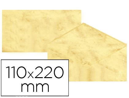 Sobre marmoleado Amarillo 110 x 220 mm (paqt. 25 unds)