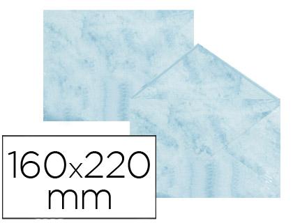 Sobre marmoleado Azul 160 x 220 mm (paqt. 25 unds)