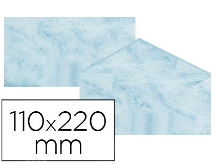 Sobre marmoleado Azul 110 x 220 mm (paqt. 25 unds)