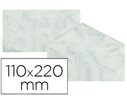 Sobre marmoleado Gris 110 x 220 mm (paqt. 25 unds)