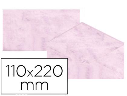 Sobre marmoleado Rosa 110 x 220 mm (paqt. 25 unds)