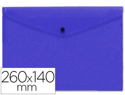 sobre polipropileno tamaño sobre americano 260x140 mm azul.