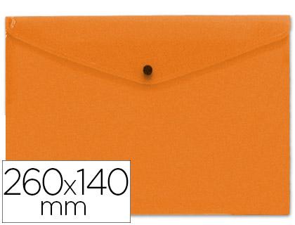 sobre polipropileno tamaño sobre americano 260x140mm naranja