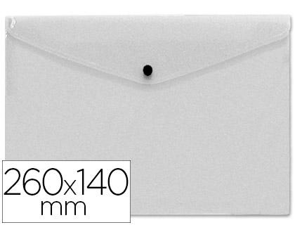 sobre polipropileno tamaño sobre americano 260x140mm transparente.