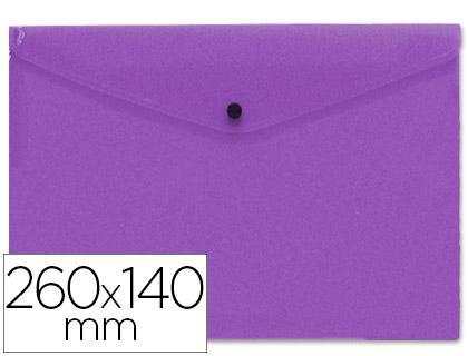 sobre polipropileno tamaño sobre americano 260x140mm violeta.