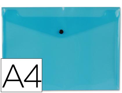 sobre polipropileno din a4 azul transparente 50 hojas.