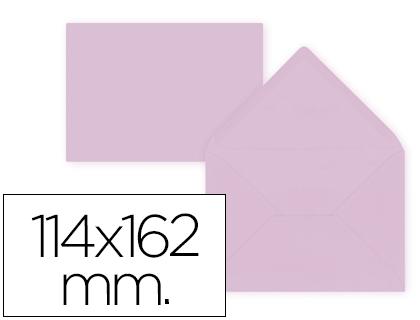 Sobre Rosa de 114 x 162 mm. Solapa pico (pack de 15 unds)