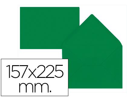 Sobre Verde Acebo de 157 x 225 mm. Solapa pico (pack de 9 unds)
