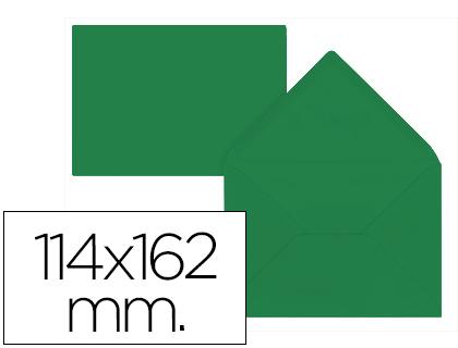 Sobre Verde Acebo de 114 x 162 mm. Solapa pico (pack de 15 unds)