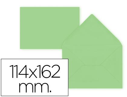 Sobre Verde de 114 x 162 mm. Solapa pico (pack de 15 unds)