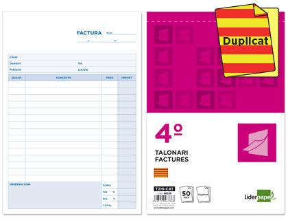 talonario facturas en catalán