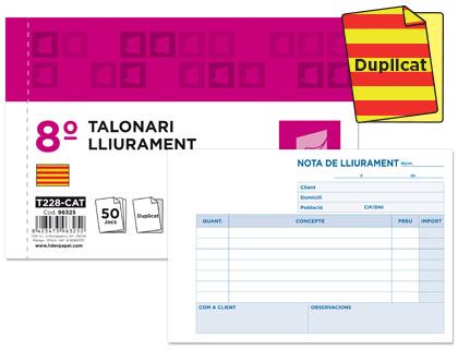 Talonario Notas de Entrega en Catalán Duplicado 105 x 155 mm. (10 unds)