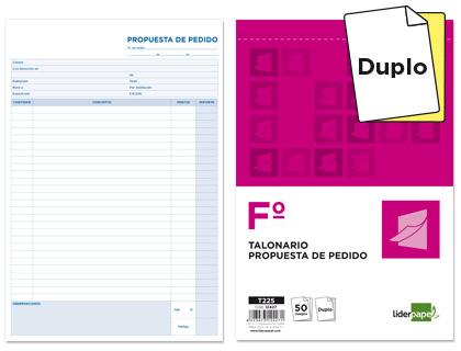 Talonario Pedidos folio natural duplicados (5 talonarios)